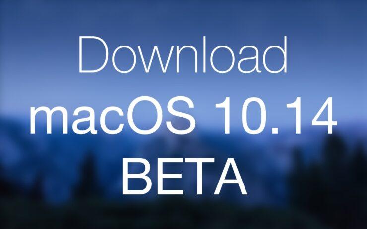 Download macOS 10.14 Beta