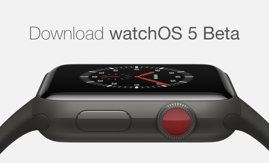 Download watchOS 5 Beta