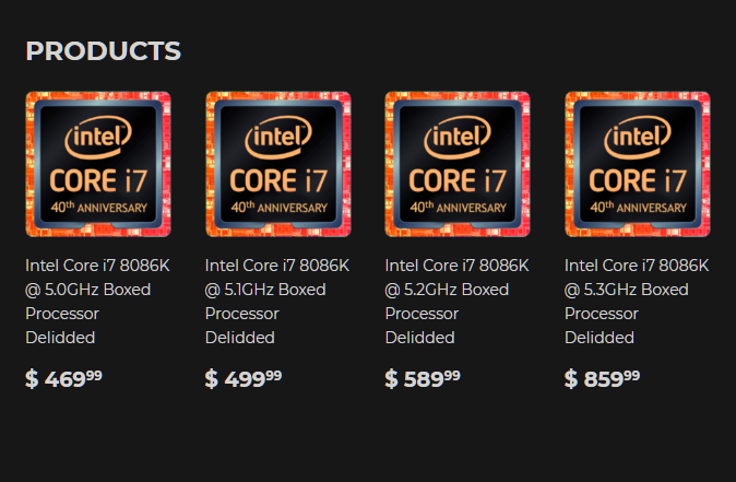 Intel Core i7-8086K Silicon Lottery