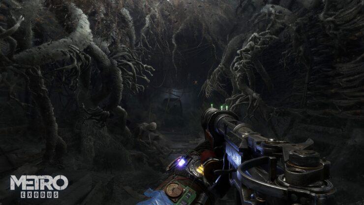 Metro Exodus Cave 4K Watermark