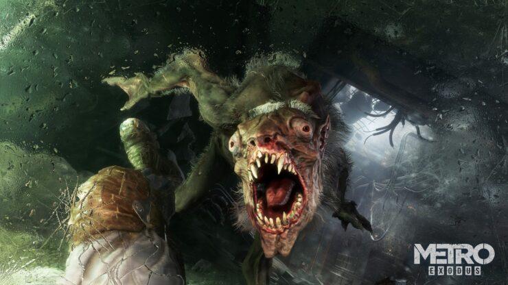 Metro Exodus Monster 4K Watermark