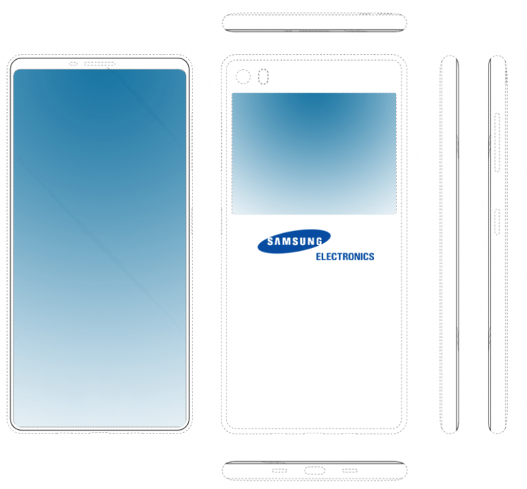 Samsung patent no smartphone chin with secondary display