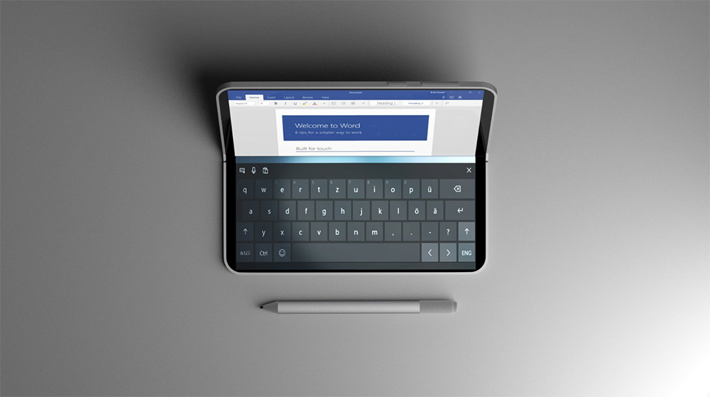 A folding dual-screen 'Surface Mini — Microsoft Andromeda