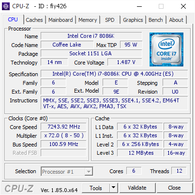 Intel's Core i7-8086K Overclocks Like A Beast At 7.24GHz