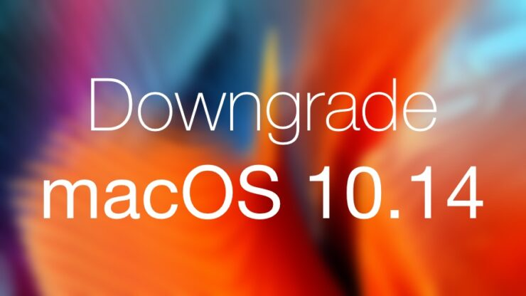 Downgrade macOS 10.14 beta
