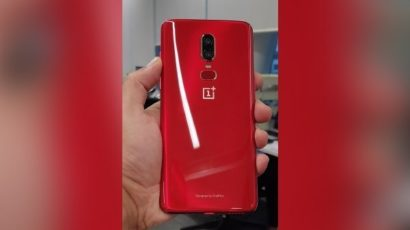 This is the OnePlus 6 Red