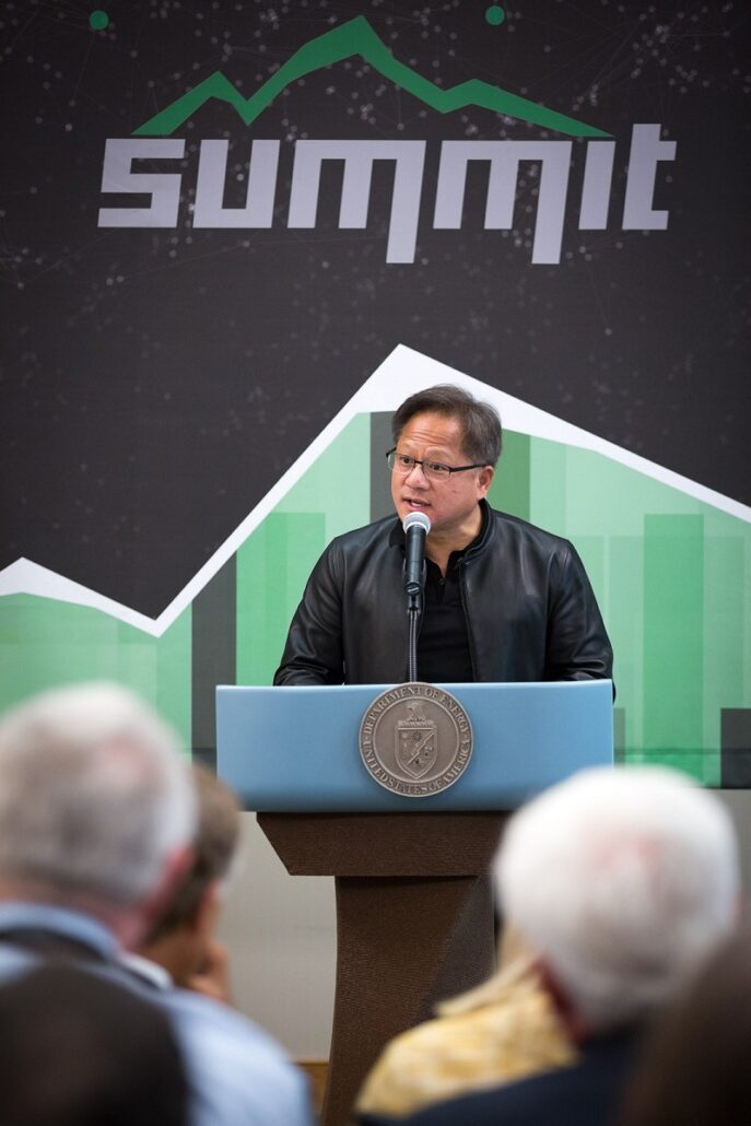 NVIDIA Jensen Huang Summit Supercomputer Announce