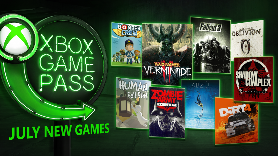 xbox game pass games july 2018