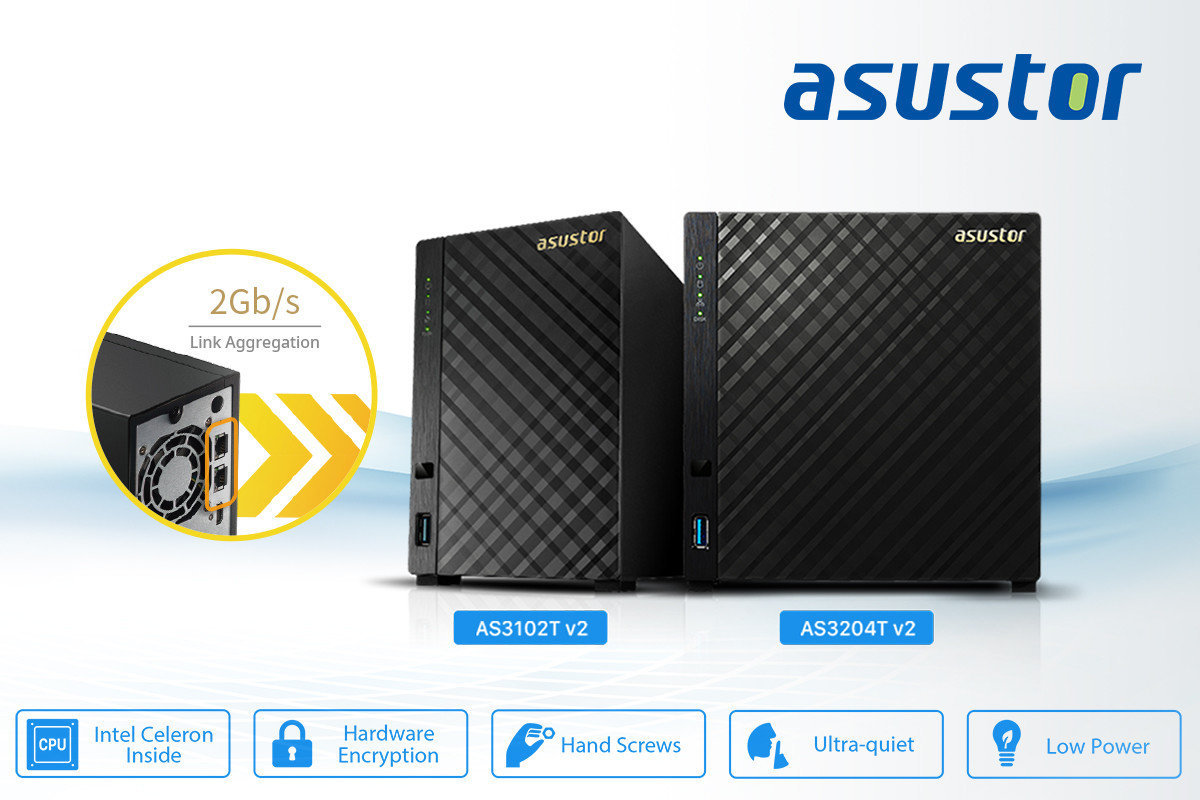 ASUSTOR AS3202T 2-Bay INTEL Quad-Core NAS