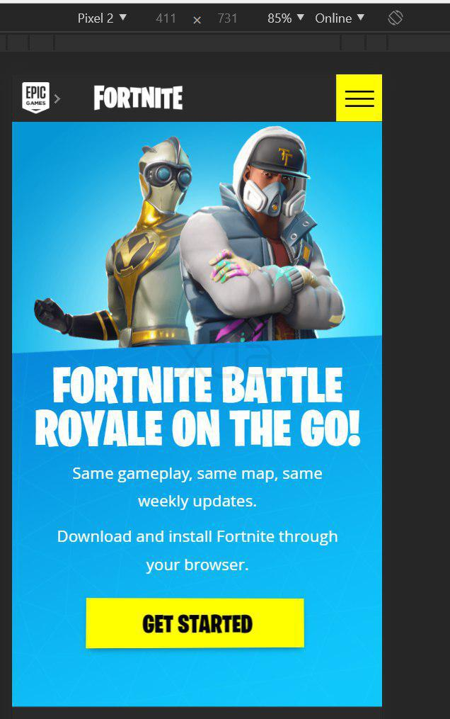 - beta fortnite battle royale android