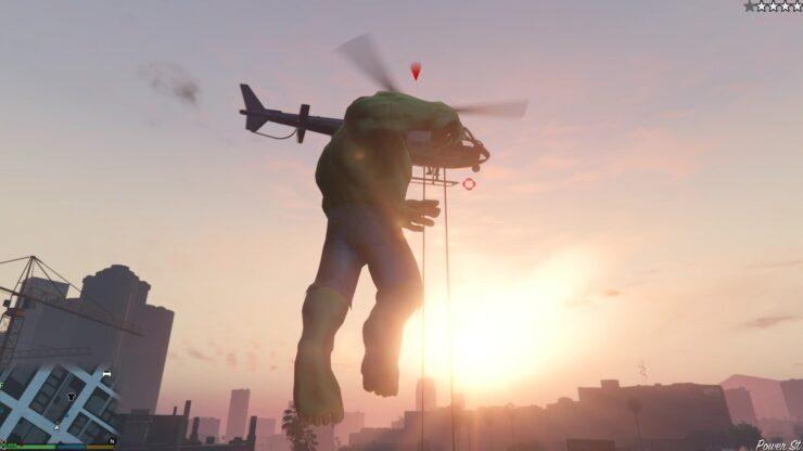 GTA V Hulk mod