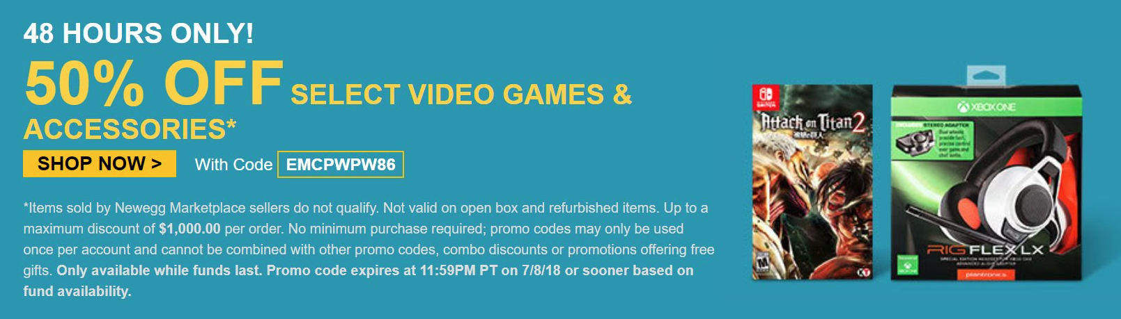 Newegg Is Offering More Than 50% Off on Select Video Games