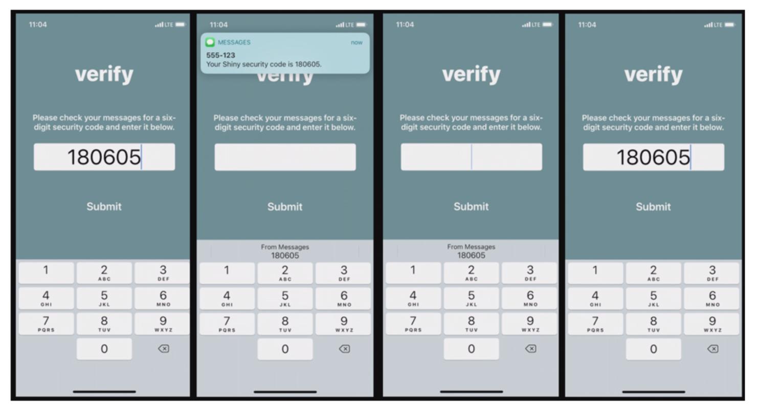 ios 12 Security Code AutoFill feature