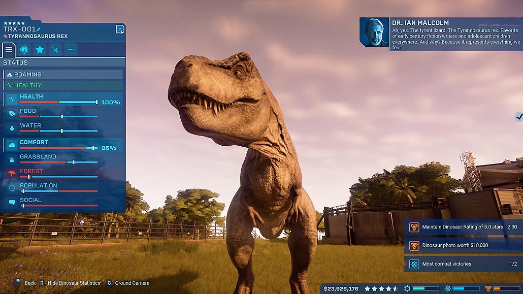 Jurassic World Evolution Review – A Predictable Park Builder