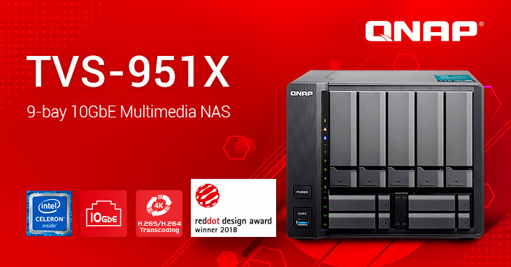 QNAP Finishes Its 9-Bay NAS Lineup With TVS-951X 10GBASE-T