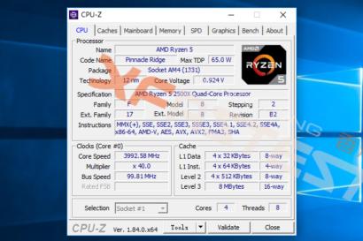 AMD Ryzen 5 2500X and Ryzen 3 2300X CPU Benchmarks in Cinebench