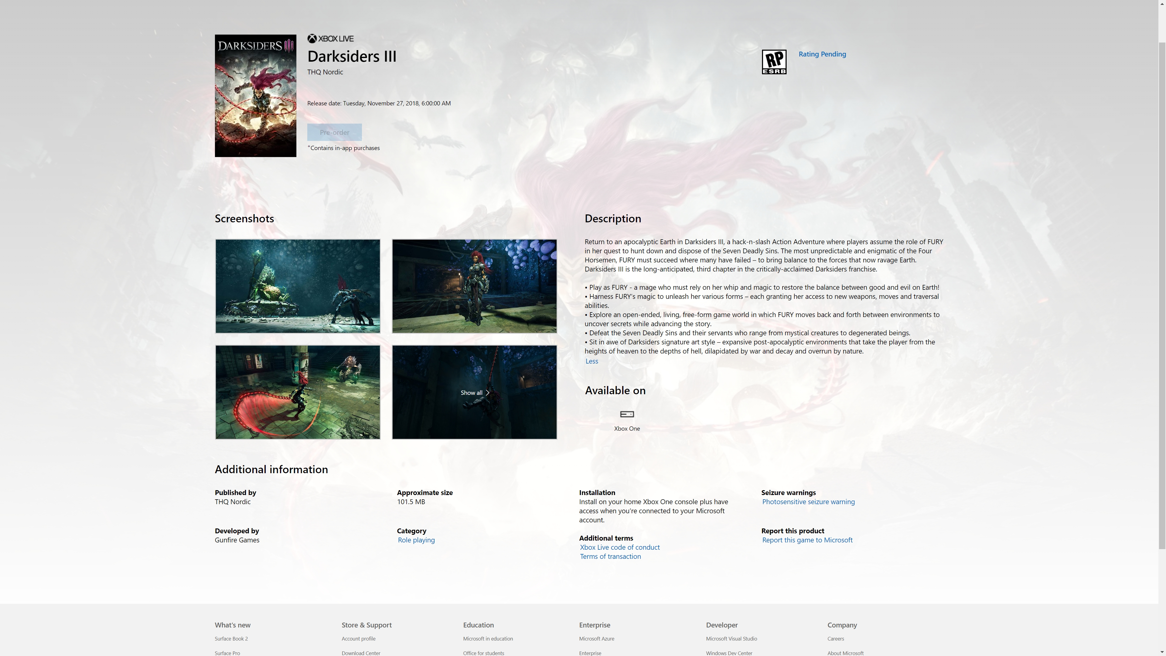 Darksiders III November Release Date Made Official