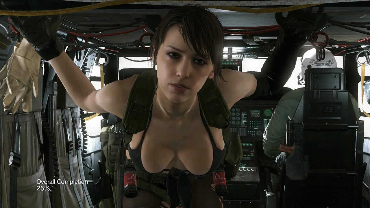 Metal Gear Solid 5 Quiet Nackt