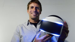 playstation-magic-lab-director-richard-marks-holds-sonys-morpheus-virtual-reality-headset-at-e3-in-los-angeles