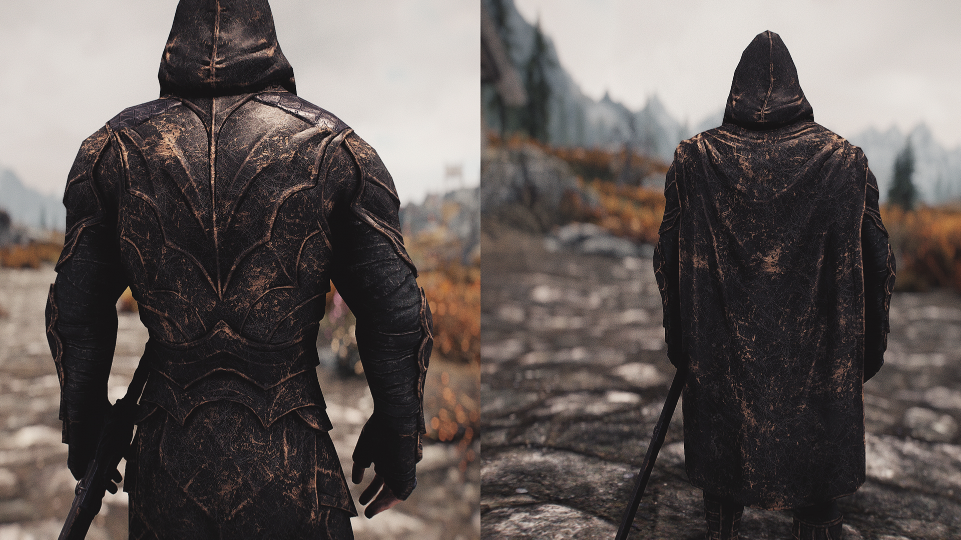 Skyrim Special Edition Nightingale 4K HD Armor and Weapons