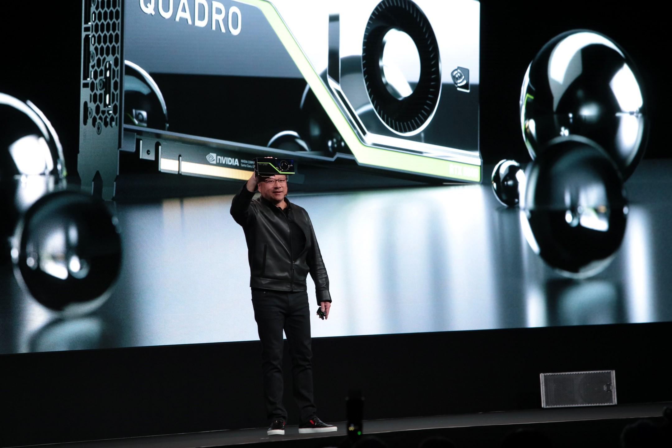 NVIDIA Demos Turing GPU Based Quadro RTX Graphics Card in