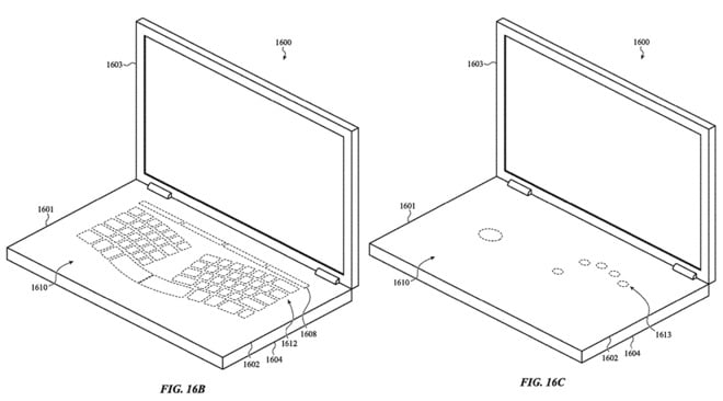new apple patent envisions a macbook with virtual keyboard