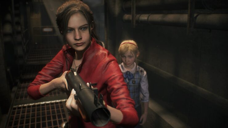 [1998] 3 - Resident Evil 2 (1998) / Remake (2019) GamesCom_Screen_Claire_Sherry_005_1534761052-740x416