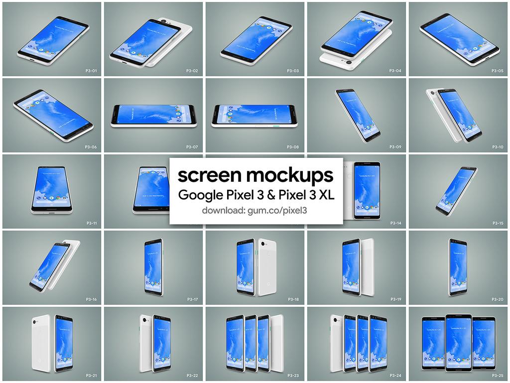 google-pixel-3-pixel-3-xl-high-resolution-mockups-1