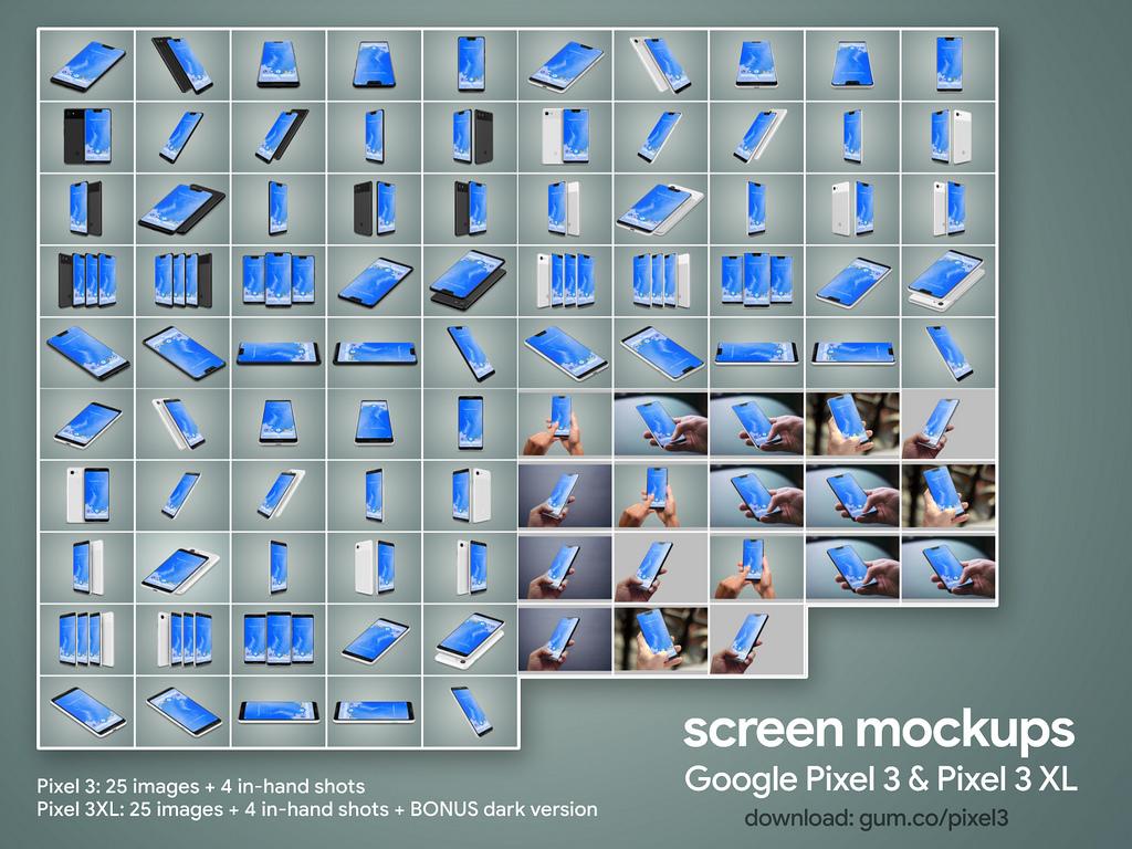 google-pixel-3-pixel-3-xl-high-resolution-mockups-2
