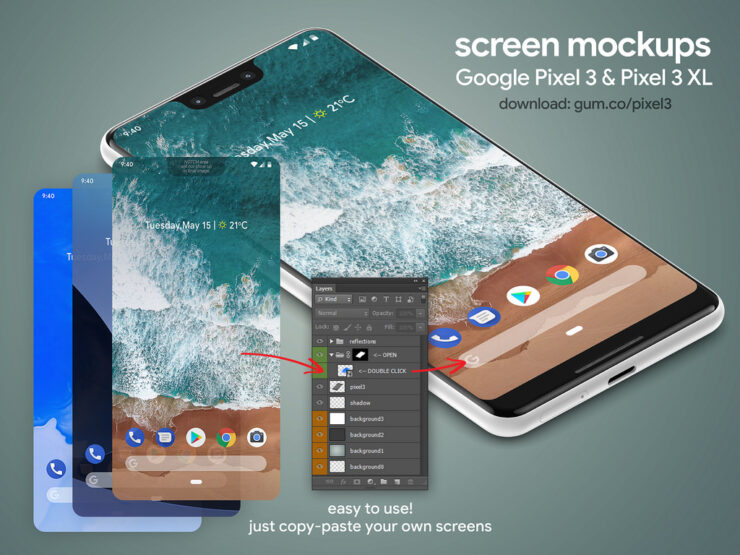 google-pixel-3-pixel-3-xl-high-resolution-mockups-3