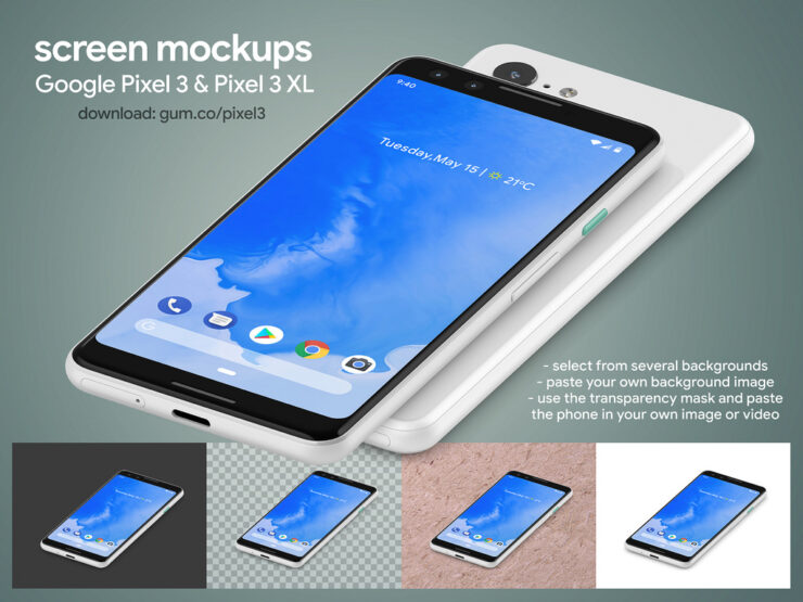 google-pixel-3-pixel-3-xl-high-resolution-mockups-6