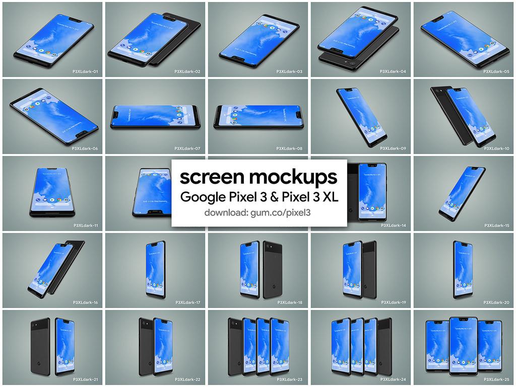 google-pixel-3-pixel-3-xl-high-resolution-mockups-8