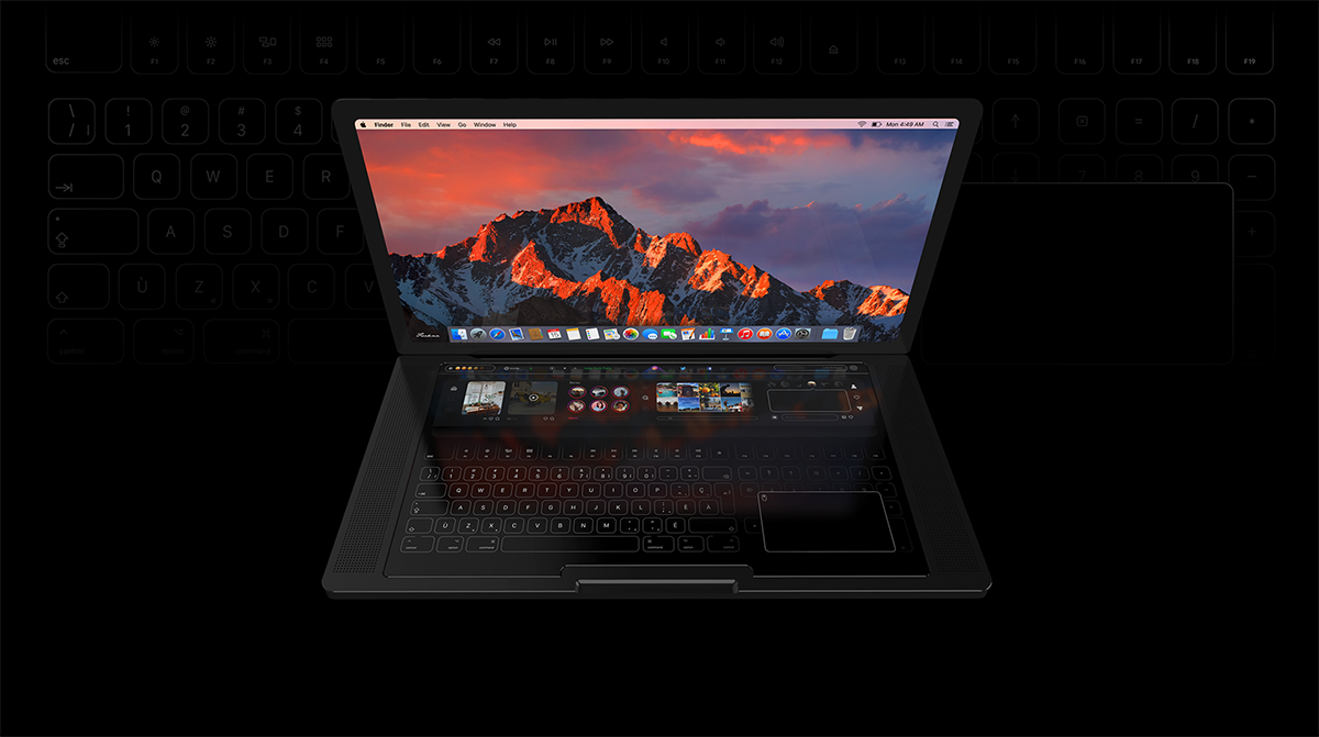 The Latest Apple MacBook Pro Touch Concept Video Envisions a Complete Touchscreen Front With an Advanced Touch Bar