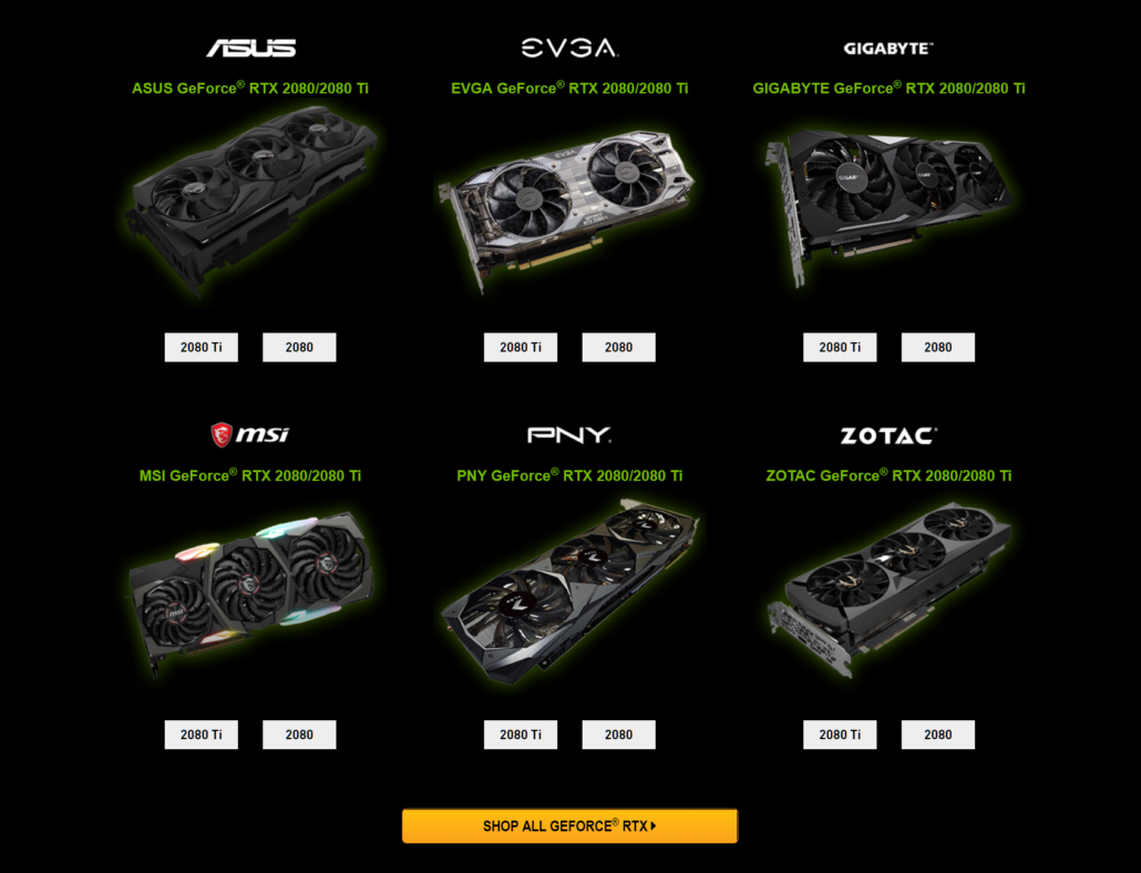 NVIDIA GeForce RTX 20 Series Preorder