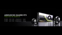NVIDIA Demos Turing GPU Based Quadro RTX Graphics Card in Ray Tracing