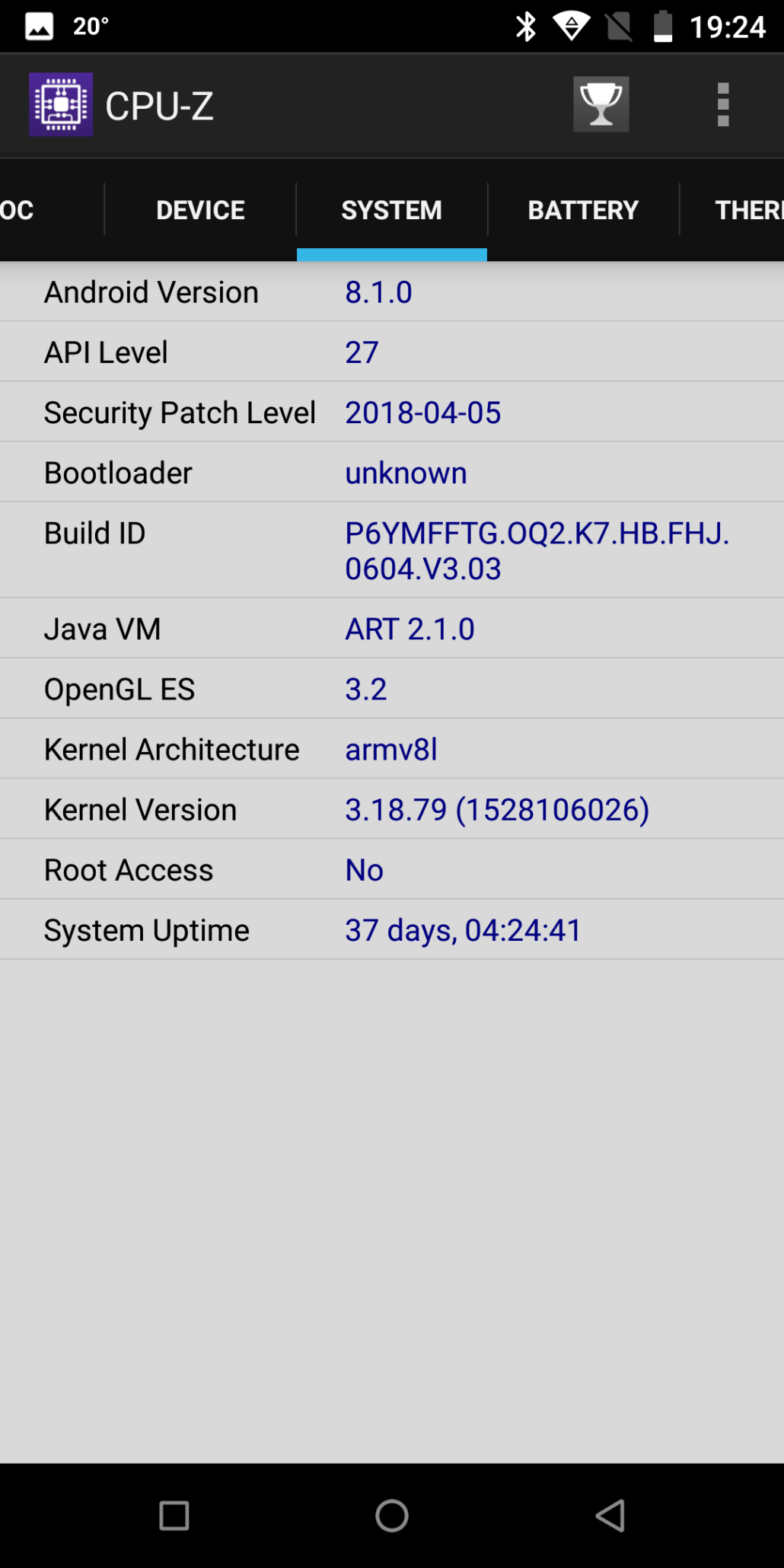 oukitel-k7-phone-review-02-part-3-cpuz-system