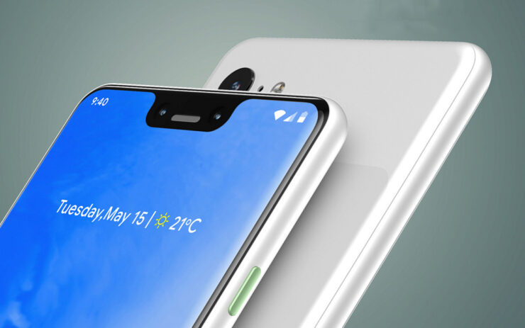 Google Pixel 3 & Pixel 3 XL High-Resolution Mockups Show Beautiful Attention to Detail - No Notch on the Smaller Variant