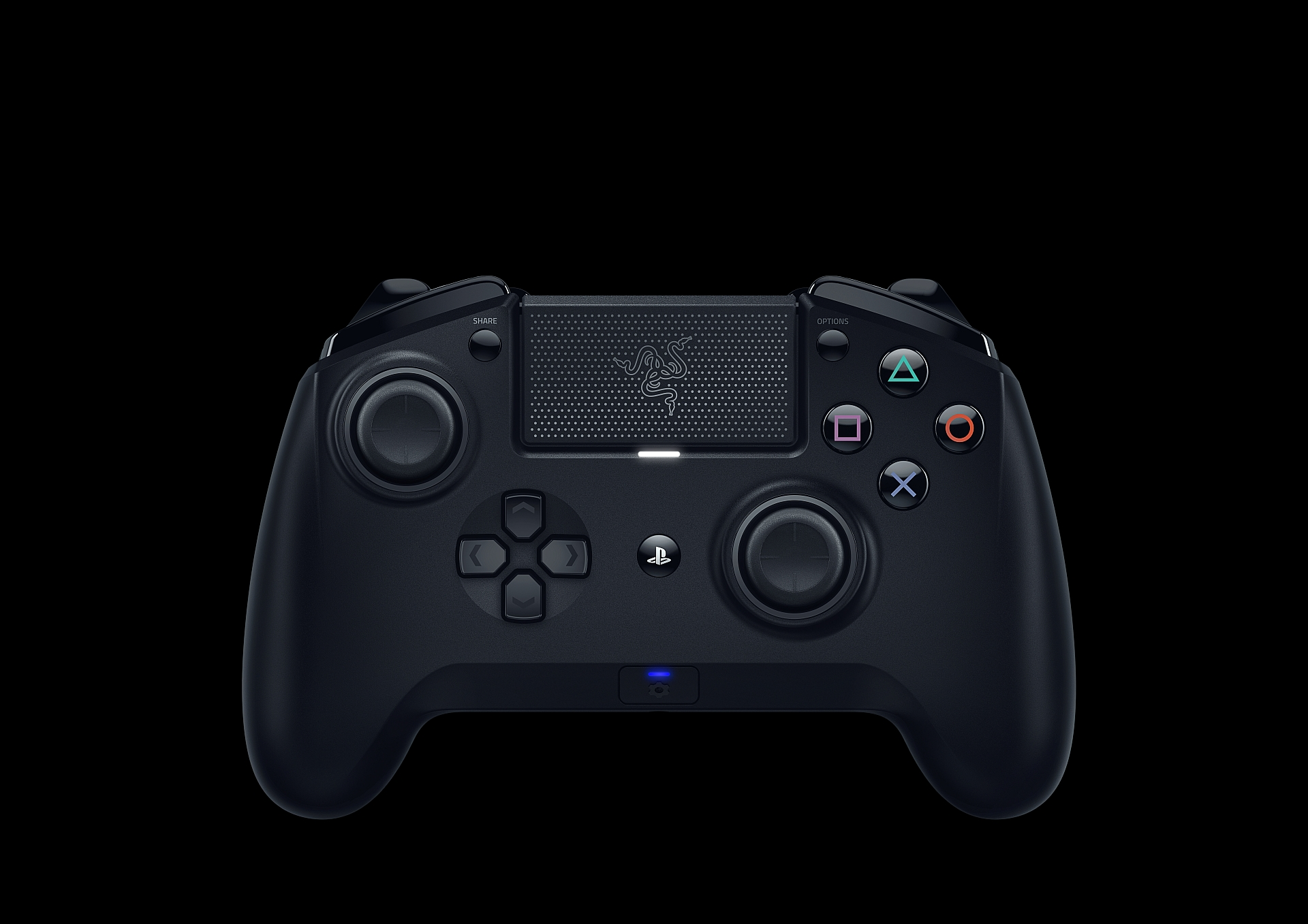 Razer Raiju Ps4 : I did press the screwdriver looking button in the bottom and i did also turn the bluetooth on my phone but it still didn't.