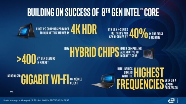 Intel Launches New 'Whiskey Lake' Based U and Y Series 8th