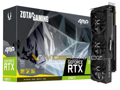 ZOTAC GeForce RTX 2080 Ti AMP! Edition rumored to cost $1199