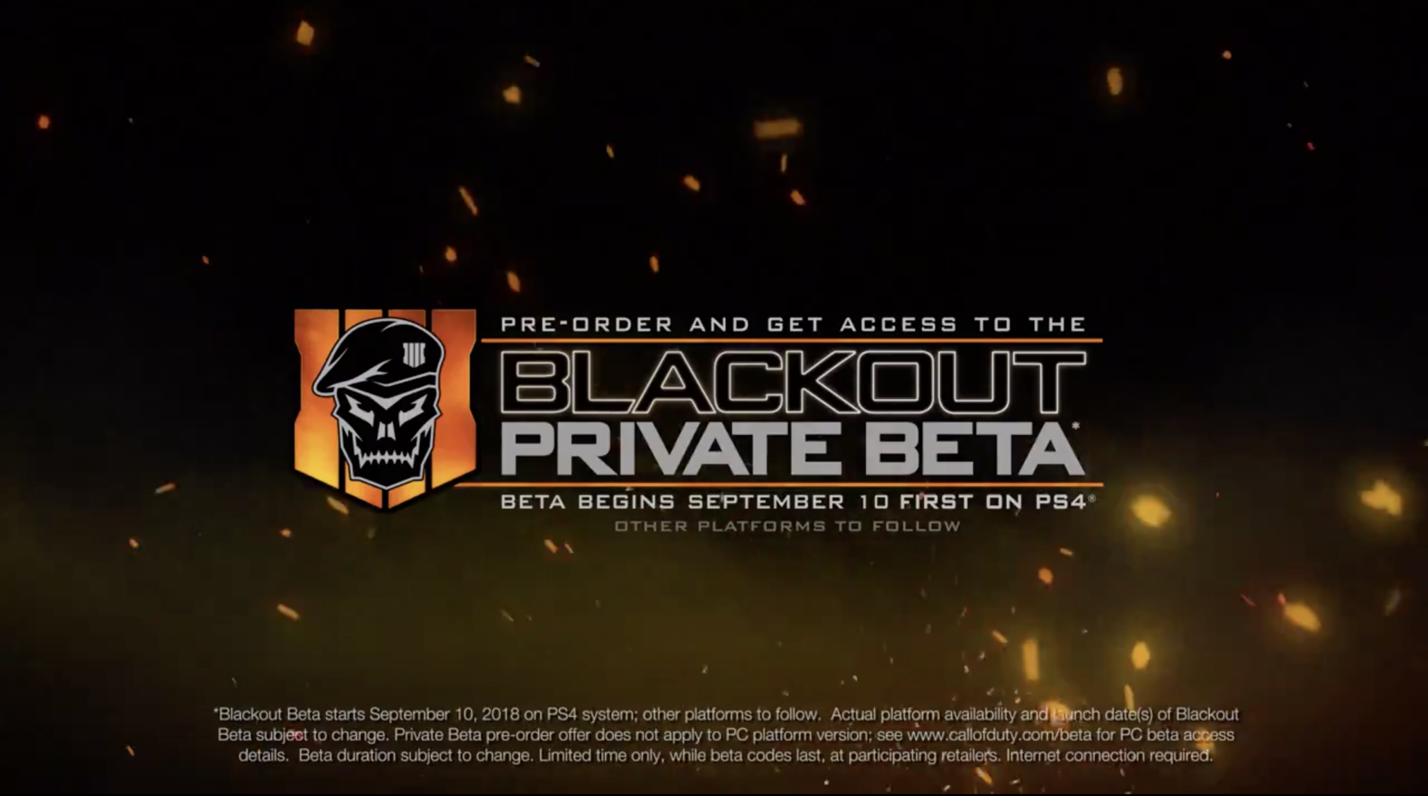beta for black ops 4