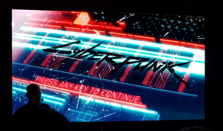 cyberpunk 2077 starting screen