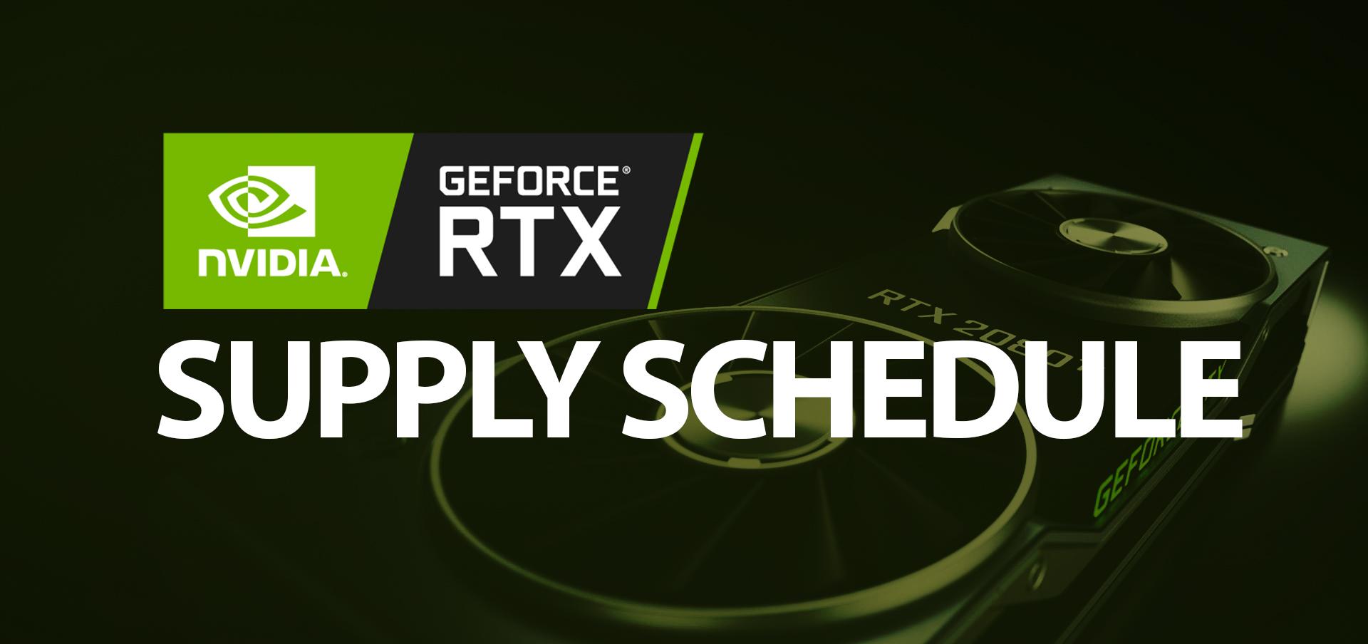 NVIDIA's GeForce RTX 2080 Ti, RTX 2080 and RTX 2070 Supply