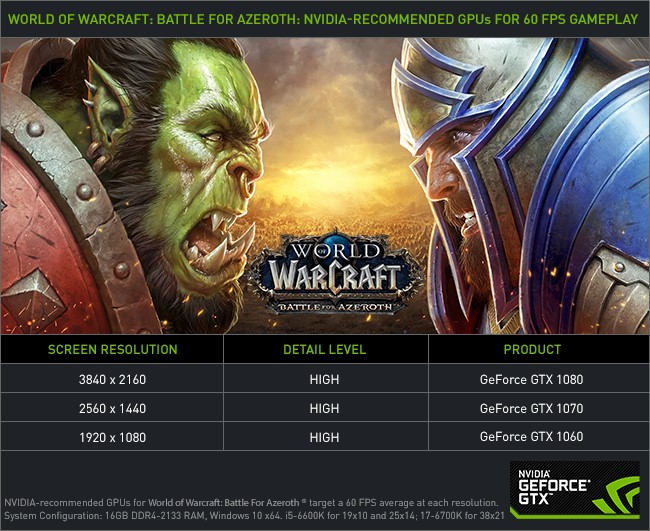 NVIDIA Game Ready Driver 398 82 Out Now, Optimized for WoW