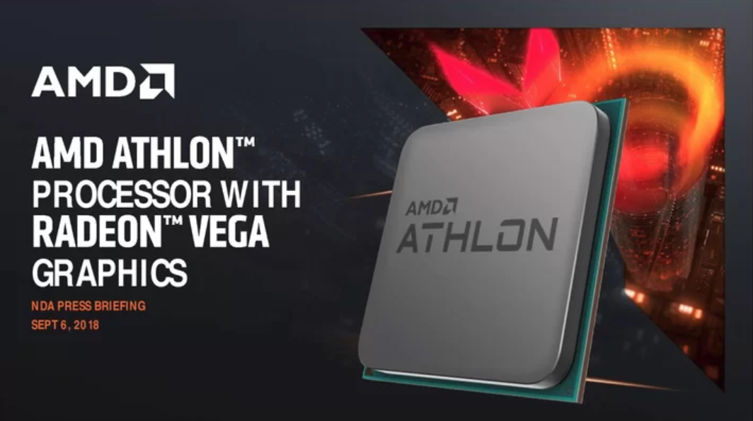 Amd Intros 55 Us Athlon Cpu With Zen And Vega Cores For Budget Pcs