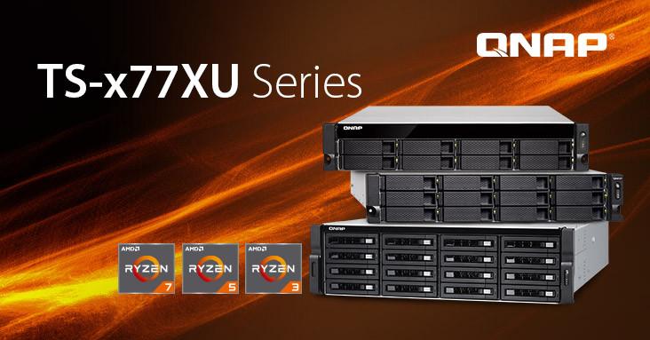 QNAP Introduces Groundbreaking TS-x77XU Ryzen Rackmounted NAS