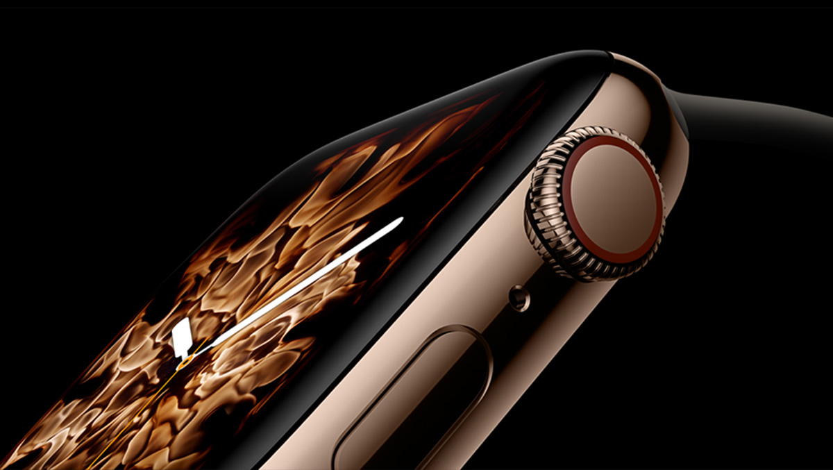 Apple Watch Series 4 faces use real fire