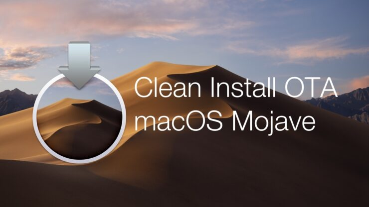 clean install macOS Mojave