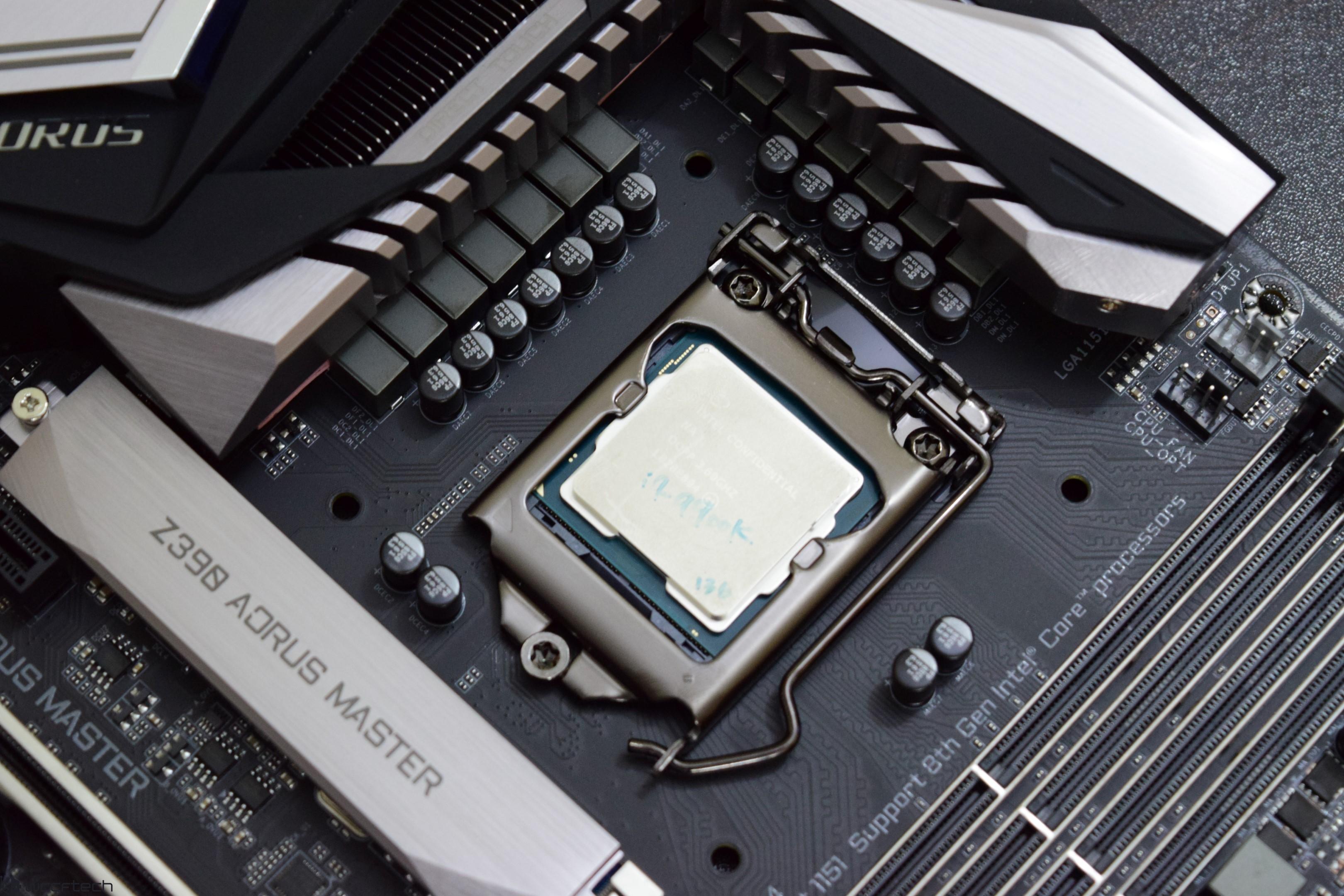 Intel Core i9-9900K 8 Core CPU Review on AORUS Z390 Master