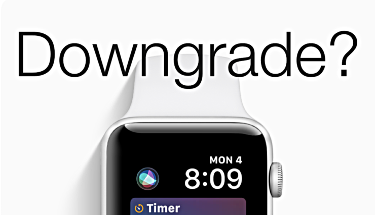 Downgrade watchOS 5 GM